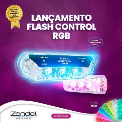 Kit Strobo 2 Faróis 9w Rgb Zendel Flash Control Completo