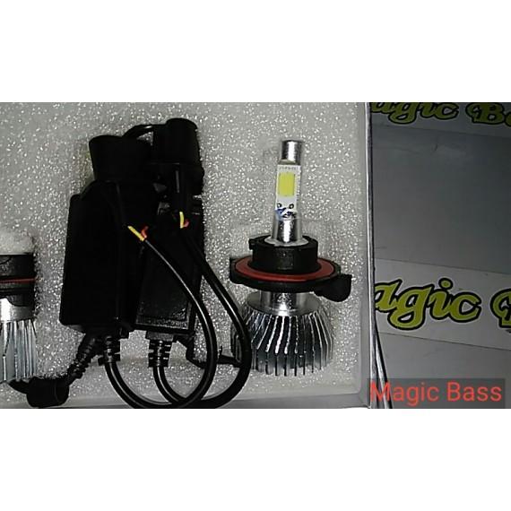Lampadas de leds H13  2D 4400 Lumens 6000k