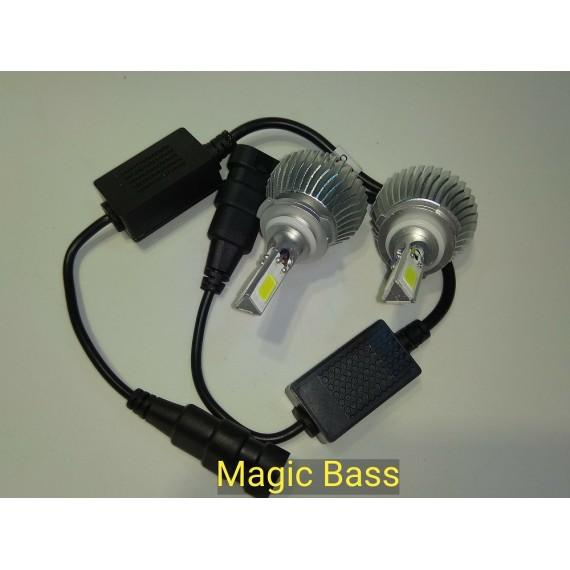 Lampadas de leds HB4  3D 7200 Lumens 6000k