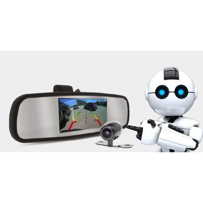 Retrovisor com tela e câmera RS-501BR